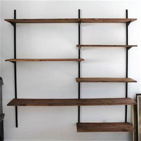 Home Shelving Systems Diy Mounted Shelving System Shelving Tip Junkie