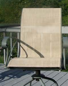 how to repair patio chair seats patio sling fabric replacement f8 237 putty textilene 174 80