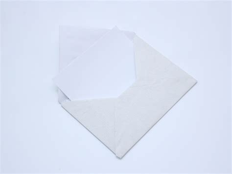 Folded Paper Envelope - origami envelope from a sheet no glue or diy origami