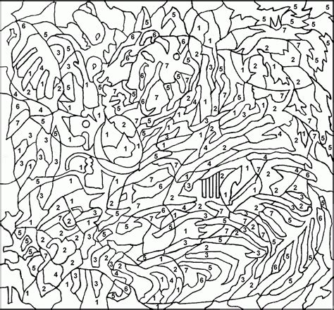 cool color by number coloring pages complex color by number coloring pages coloring pages