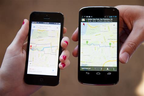 Android And Ios by Maps Vs Maps The Ios And Android Smackdown