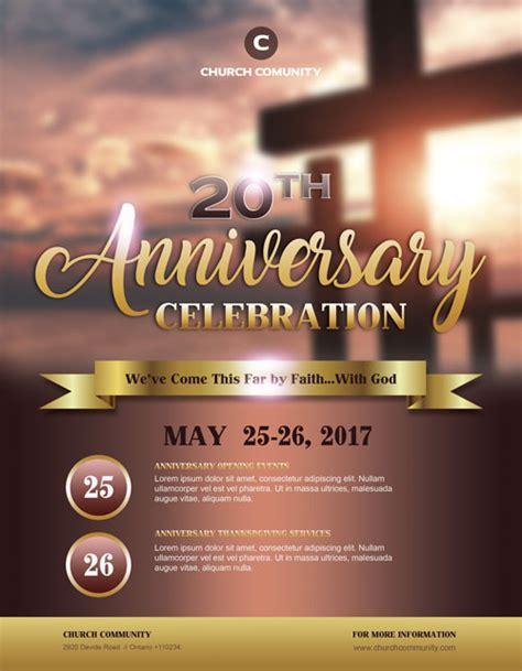church flyer template anniversary celebration free church flyer template