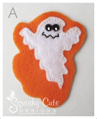 felt ghost pattern stuffed animal sewing patterns squishy cute
