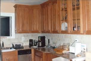 kitchen backsplash oak cabinets home design and decor