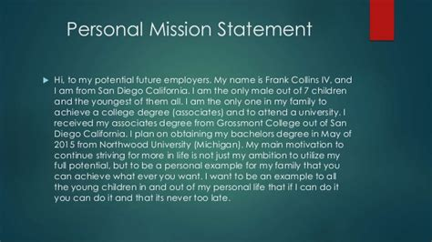 career portfolio of frank collins iv