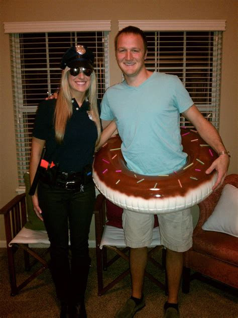 costume 13 clever diy cop and donut tired of the policewoman costume bring a whole different stereotype to