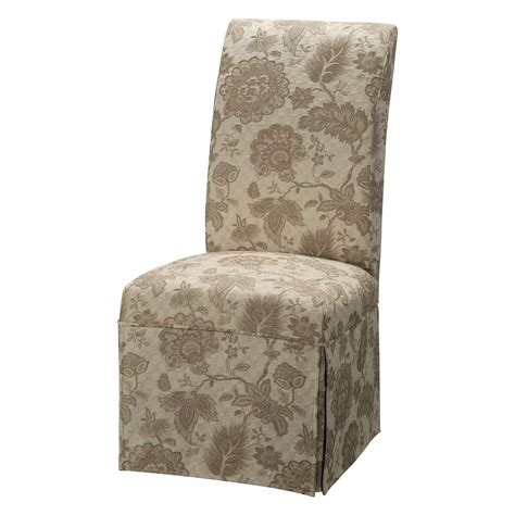 chair slipcover pattern powell classic seating woven gold with taupe floral