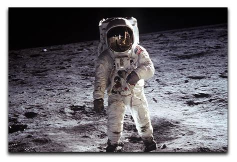 Product Buzz No Snow Snuggler by Buzz Aldrin Astronaut On Moon Print Canvas Rocks 1