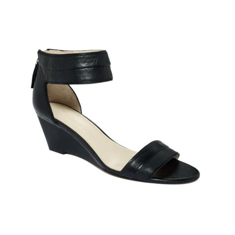nine west packpunch wedge sandals in black lyst