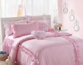 Pink girls lace plaid ruffled bowtie bedding cheap girls bedding sets