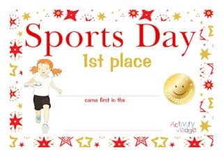 Sports Day Certificate Template by Sports Day