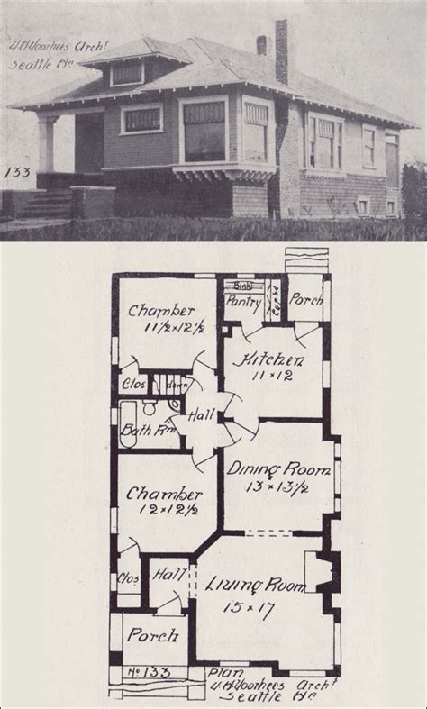 1908 hip roofed bungalow cottage plan western home