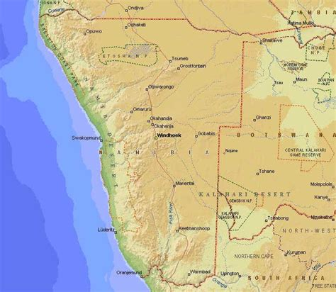 africa map namibia maps of namibia