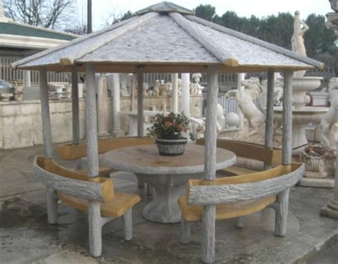 panchine esterno arredo da giardino no pietra gazebo effetto legno con