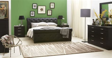 black bedroom suites forty winks century luxurious modern studded leather bed