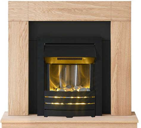 Cheap Fireplaces Uk by Electric Light Oak Wood Black Wall Cheap Surround Modern