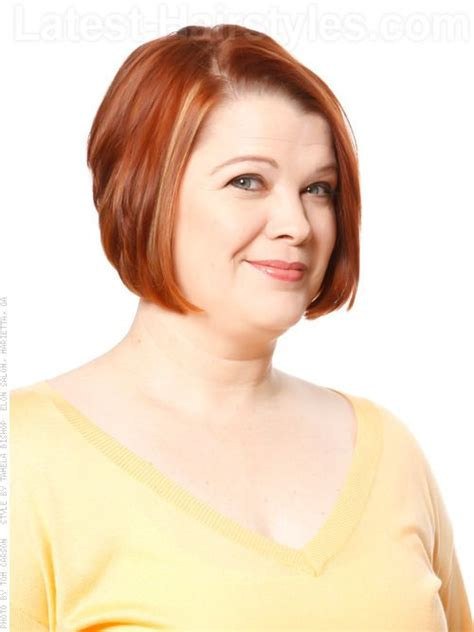 a lined bob for plus size woman 15 timeless regal short hairstyles for older women