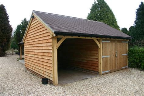 Oak Car Port by Green Oak Framed 2 Bay Garage Car Port Bespoak Framing