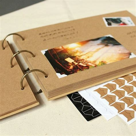 Christopher Peacock Kitchen Designs square ring binder kraft scrapbook album 48 pages