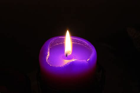 candele lilla purple candle