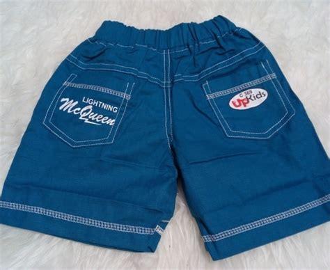 Celana Pendek Anak Katun celana anak pendek polos mcqueen