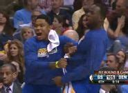 warriors bench reaction warriors bench has great reaction to harrison barnes dunk