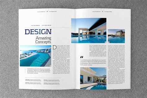 design journal template indesign magazine template v 02 by shafura thehungryjpeg com