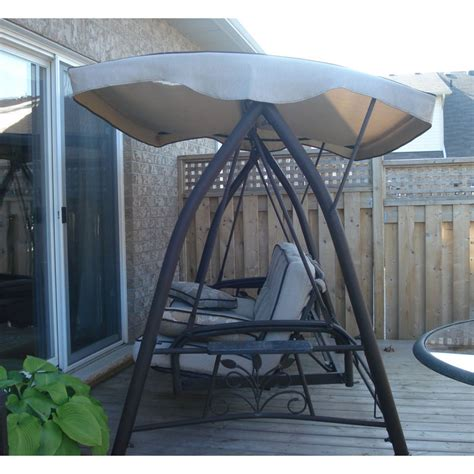 Patio Swing At Costco Awesome Patio Swing With Canopy Costco 65 In Lowes Sliding