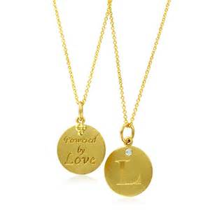initial necklace letter l pendant with 18k yellow