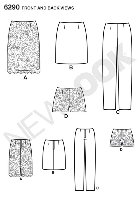 pattern review best patterns 2014 new look 6290 misses shorts skirt in two lengths and