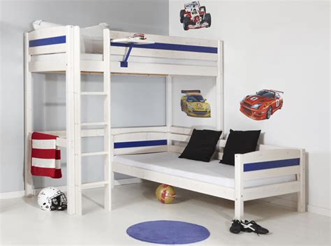 Bunk Bed With Office Children S Single Bunk Beds White Bunk Beds