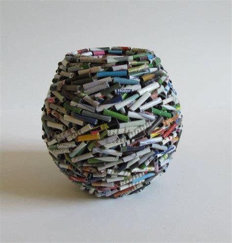 Basteln Mit Zeitung by Die Besten 25 Gerolltes Papier Kunst Ideen Auf
