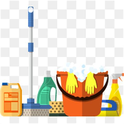 Cartoon Cleaning Tools PNG Images   Vectors and PSD Files
