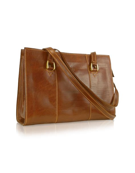 Italian Handmade Bags - chiarugi handmade brown genuine italian leather zip