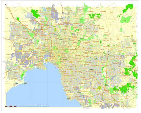 printable maps melbourne ladawan free printable and editable vector map of