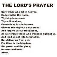 Pin printable lords prayer on pinterest