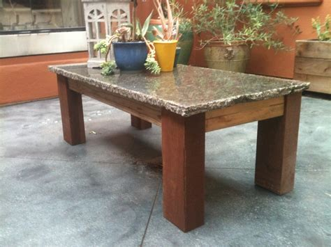 granite table reclaimed coffee table 4x6 post legs granite top eric