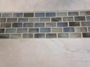 Glass Tile Accent In Bathroom Shower Enclosure W Glass Accent Contemporary Tile
