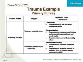 using simulation in teamstepps training classroom slides