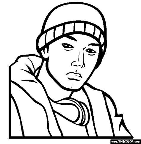 Eminem Coloring Pages