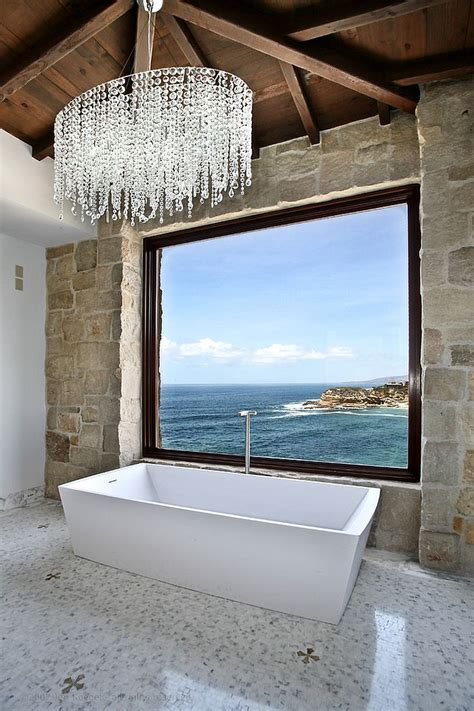 mediterranean style bathroom back to 25 sparkling ways of adding a chandelier to your