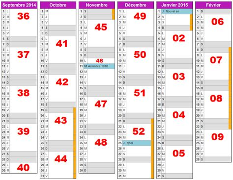 Calendrier Avec Les Semaines Calendrier 2015 Semaines Numerotees