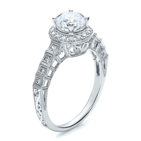 halo filigree engagement ring vanna k 100101