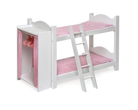 Badger Basket Doll Bunk Beds With Ladder Badger Basket Doll Bunk Beds With Ladder And Storage Armoire By Oj Commerce 01856 44 25