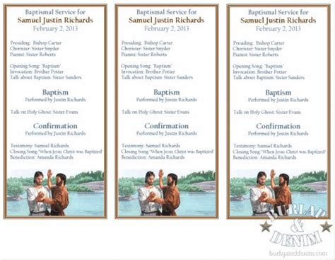 baptism program template free printable baptism program by burlap and denim