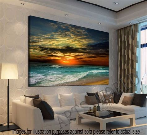 home interiors wall decor framed home decor canvas print modern wall seascape pictures blue ebay