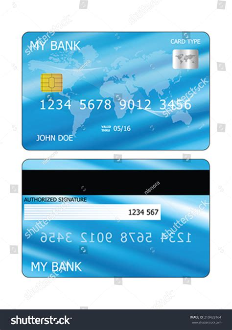 Credit Card Eps Template Vector Credit Card Template Both Sides 210428164