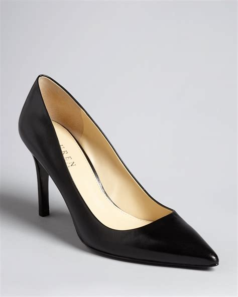 black pointed toe high heels by ralph pointed toe pumps adena high heel