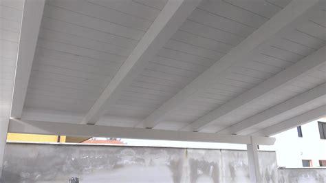 tettoie in legno bianco verande