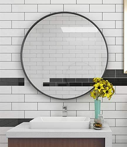 amazoncom large circle wall mirror black  wall